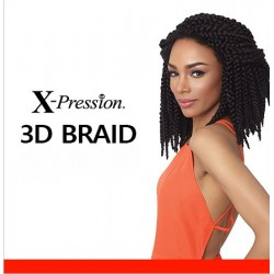 X-Pression 3D Twist Braid 12'' CROCHET BRAID