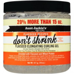 Aunt Jackie's Curls & Coils Don't Shrink Flaxseed Elongating Curling Gel