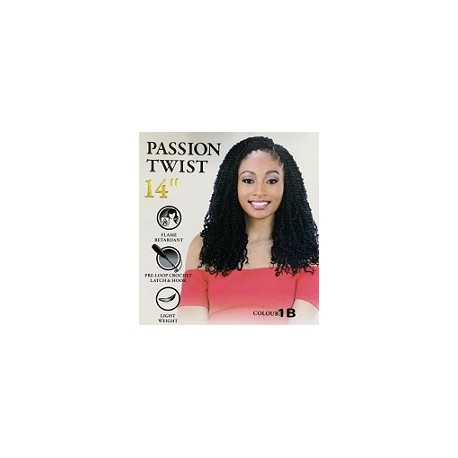 CHERISH SYNTHETIC PRE LOOPED BRAID CURLY HAIR EXTENSIONS - PASSION TWIST 14''