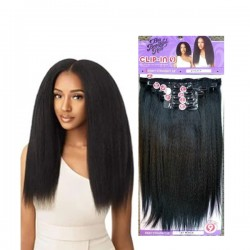 """OUTRE BIG BEAUTIFUL HAIR CLIP IN 9PCS KINKY STRAIGHT 18"""""""
