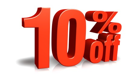 10% SALE ON ALL OUR PRODUCTS!!!